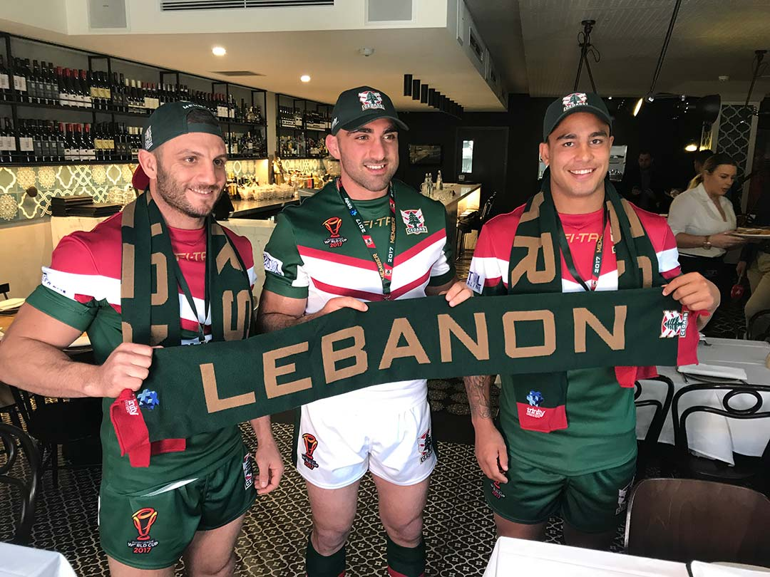 LEBANESE RUGBY LEAGUE FEDERATION LAUNCH  RLWC2017 JERSEY AND SPONSORS